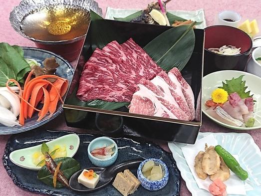 【秋旅】支配人おすすめ\\長野の牛と長野の豚しゃぶしゃぶorすき焼//お鍋を豪華W肉が彩ります