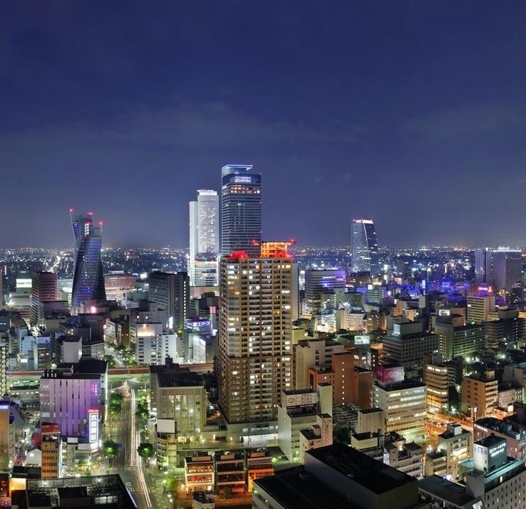 高層階からの眺めは名古屋の街を一望(名古屋駅側)
