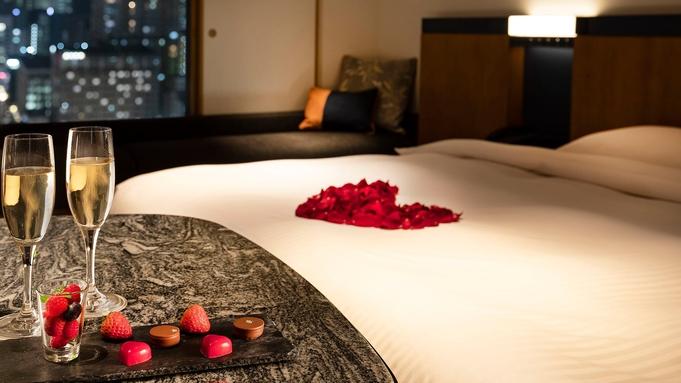 【大切な記念日・プロポーズに】ベッドをバラの花びらで演出 スイートエスケープ(記念日特典付)