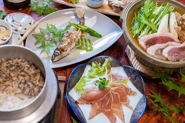 【夕食+朝食2食付きプラン】キジ・鴨・川魚 地元ならではのお食事と高月温泉を愉しむ