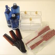 *【大浴場アメニティ】基礎化粧品・コットン・綿棒・くし・ブラシをご用意しております。