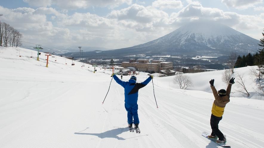 冬のスキー