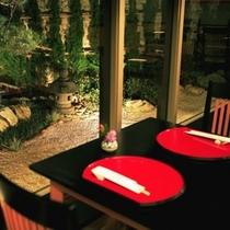 ◇日本庭園を眺めながらのお食事