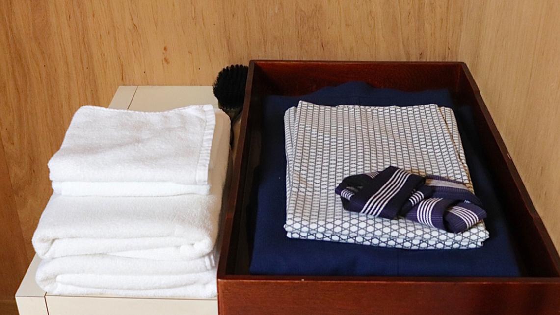 【アメニティ】浴衣はお部屋にございます。