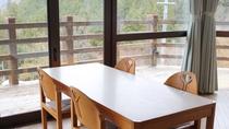 【レストランしゃくなげ】マウンテンビューの景色を眺めながら朝食を。