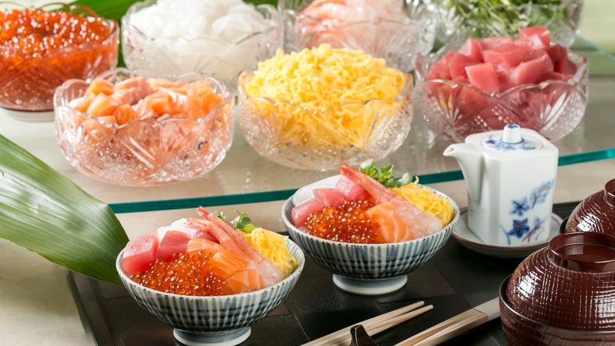 【朝食ビュッフェ】海鮮丼※イメージ