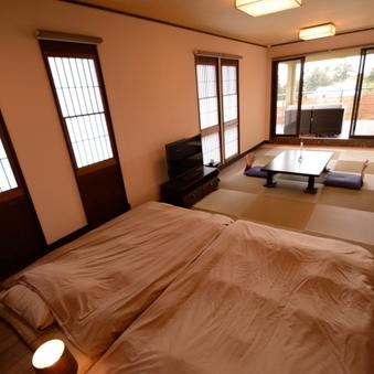 和室12畳,寝床5畳,露天付きテラス11畳「ぼたん」56平米