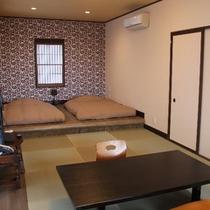 露天風呂付客室(山側:つばき)