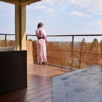お部屋「ぼたん」露天風呂からの景色