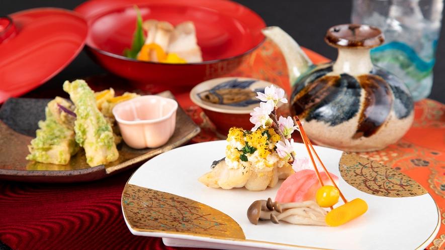 【日本料理・富士】不定期で、首里の泡盛と会席を愉しむイベントも開催。