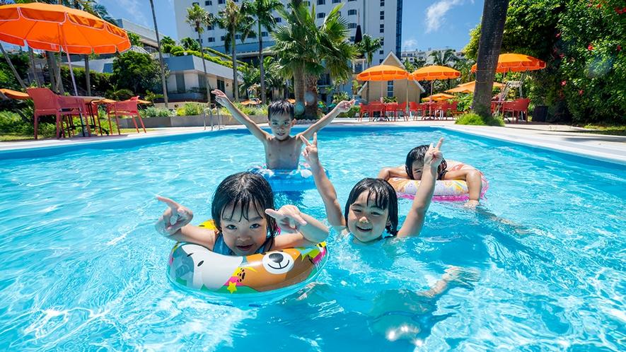 【夏季ガーデンプール】ファミリーも安心!お子様用プールもございます。