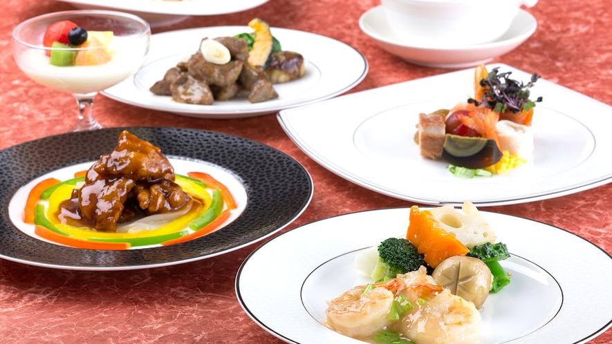 【中国料理・舜天】料理長一押しのコース。シーズンごとの口福にの味にぜひご期待ください。