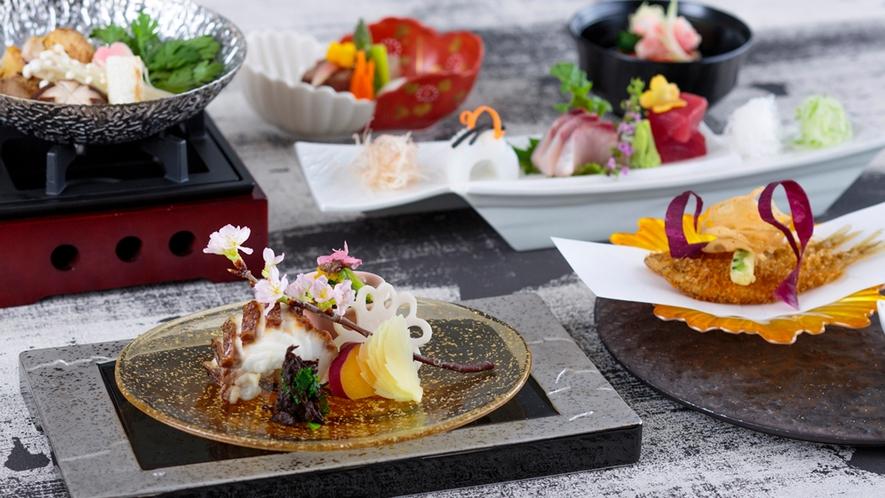 【日本料理・富士】沖縄ならではの食材や伝統的な琉球料理をアレンジした会席料理やお弁当、定食が自慢。