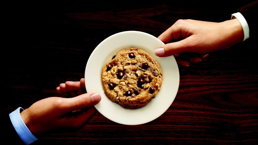 【イチオシ!】チェックイン時に、ホテル特製の「チョコチップクッキー」を皆様にプレゼント♪