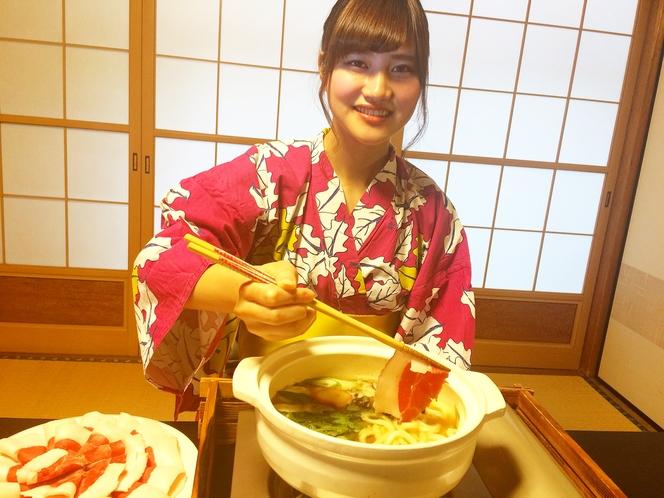 大峯猪を使った「ぼたん鍋」当館一番人気メニュー