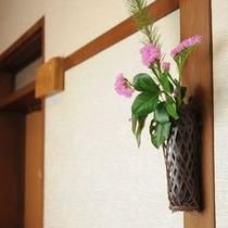 廊下にもお花〜