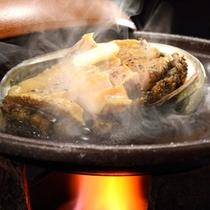 アワビ 陶板焼き