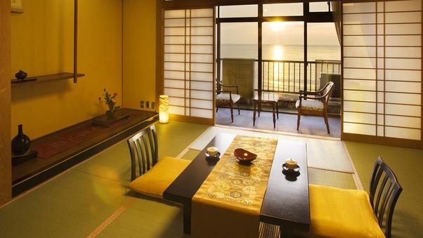 「日本百選の夕陽」を楽しむ【海側のお部屋】(和室6〜12畳)