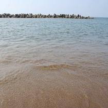 日本海屈指の透明度を誇るたかす海水浴場