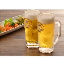 夕食時には、生ビールを販売中! お仕事お疲れ様でした!(^^)!