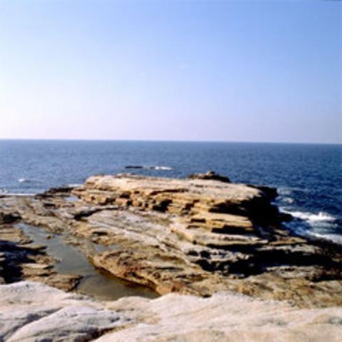 【千畳敷】当館より車で約5分★三段壁・円月島と並ぶ白浜の景勝地で、夕日が絶景です♪
