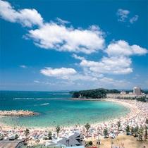【白良浜海水浴場】白浜を代表する人気の海水浴場≪白良浜≫までは車で約2分★