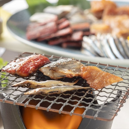 【朝食の干物バイキング】和歌山産でこだわったむろべ自慢の干物バイキング!お好きな焼き加減でどうぞ。