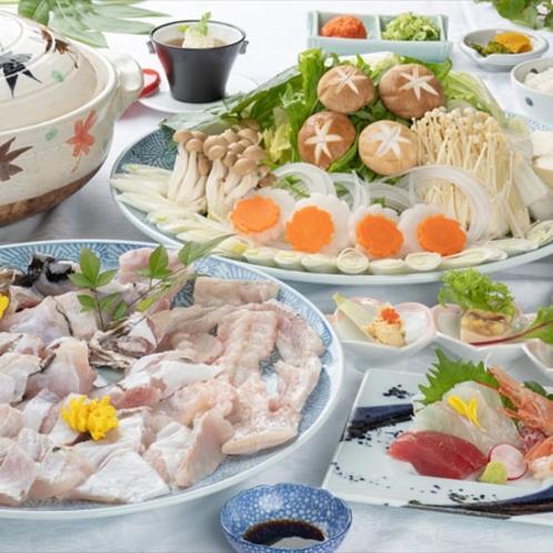 【くえ鍋】鍋の王様!クエの身は淡白で、脂が乗っているのに しつこくないのが特徴です。