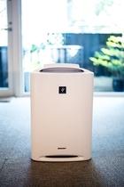 【部屋設備】各お部屋に加湿機能付きの空気清浄機をご用意しています。(デザインや大きさは異なります)
