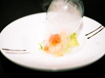 《ある日のお料理》桜チップスモークの薫りと共に楽しむ一皿。