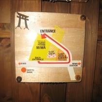 勝手口の地図看板