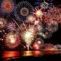 按針祭の海上花火
