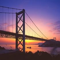 関門海峡の朝景