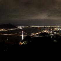 *【火の山からの夜景】関門海峡を一望できます!福岡・山口の夜景を独り占め♪