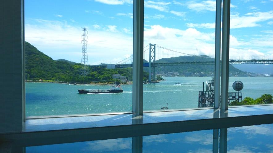 *【お風呂:周防】関門海峡を眺めながらゆっくりと入浴が楽しめる♪