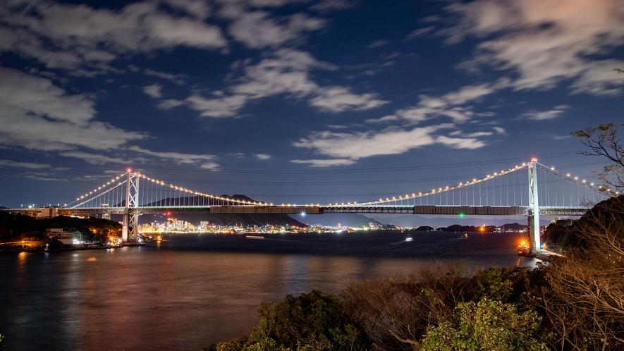 *【夜景】関門海峡を一望できる立地だからこそこの贅沢な景色をひとり占め!