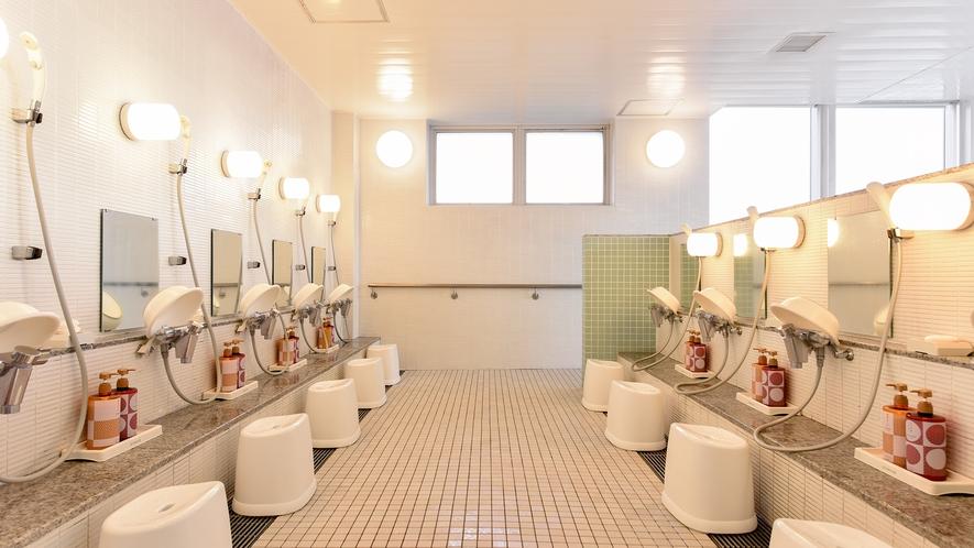 *【お風呂:周防】洗い場にはリンスインシャンプー・ボディーソープもご用意しております。