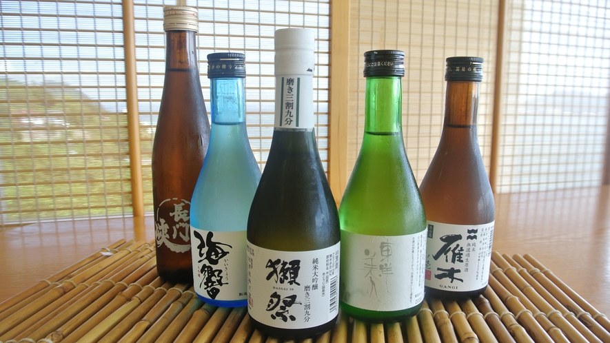 【ドリンク一例】山口の美味しい地酒を多数取り揃えております!