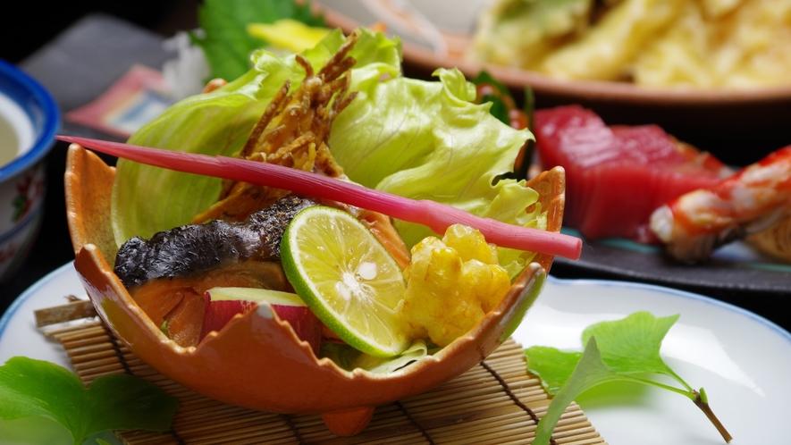 *【夕食一例】本格料亭の味☆地元伝統食材をふんだんに使用した献立の数々