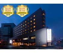 ■ホテル外観(朝ごはんフェスロゴ入り2)