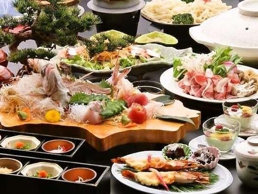 <新かがわ割も対応!>■潮彩会席■瀬戸内海の季節を映す旬魚と県産牛の鉄板焼き+海老の黄金焼き付