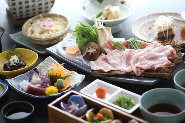 24時間使える趣が異なる6つの無料貸切風呂!香川県産豚のしゃぶしゃぶ会席