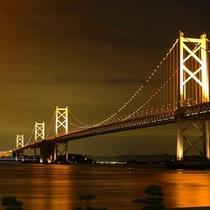 瀬戸大橋のライトアップ