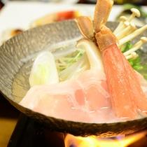 ご夕食一例(お鍋)/四季折々の旬な素材を使った心も体も温まる一品。