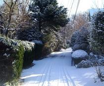 ミヨー近くの雪景色