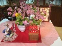 河津桜とお雛様