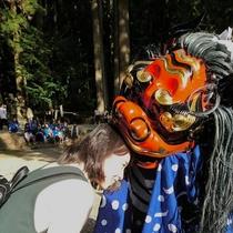 秋祭り 獅子舞