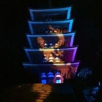 室生寺紅葉ライトアップ