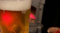暖炉でビール