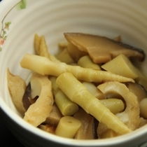 夕食_山菜ときのこの和え物